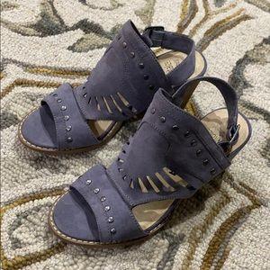 Sonoma vitalize ortholite purple suede heels sz 7